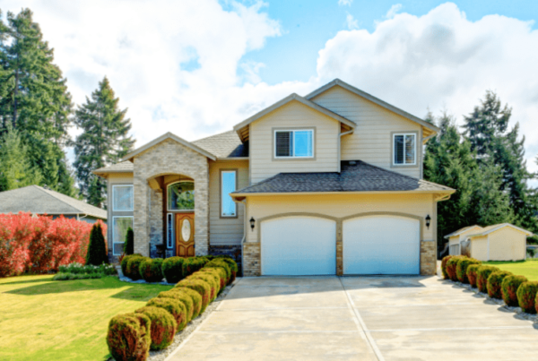 Curb appeal of a home for home staging jobs
