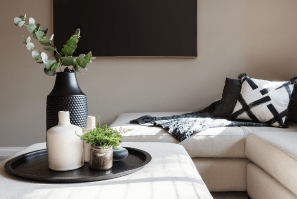 black accents in living room decor