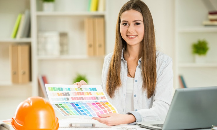 Young aspiring interior decorator looking for interior decorator jobs and interior decorating career