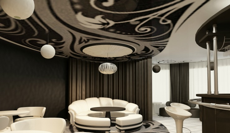 Design Blog Creative Ways to Use Wallpaper- Wall Paper Ceiling
