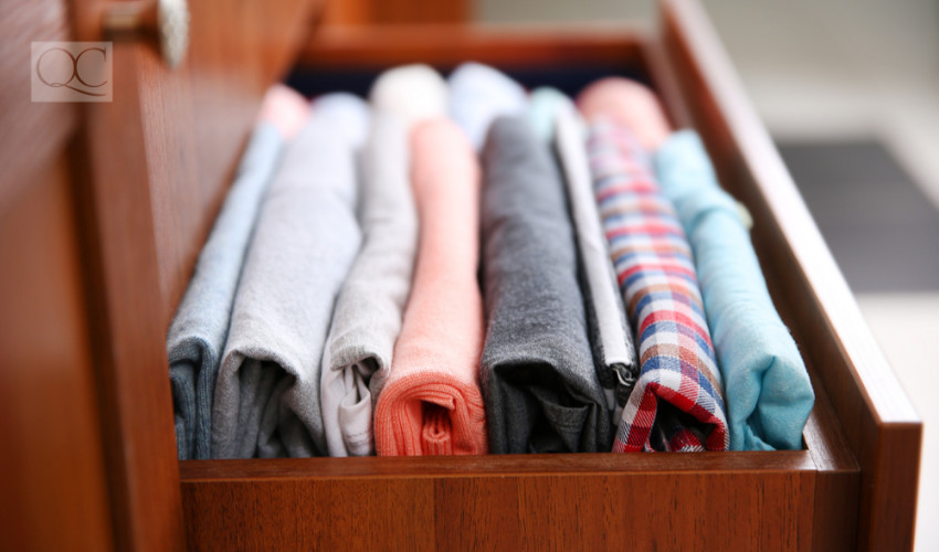 neatly folded clothes
