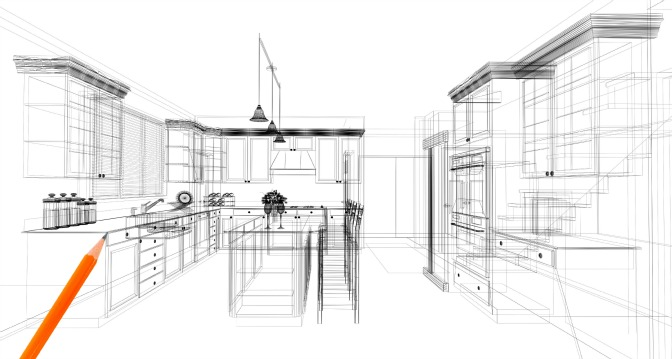 Floorplan for designing a kitchen