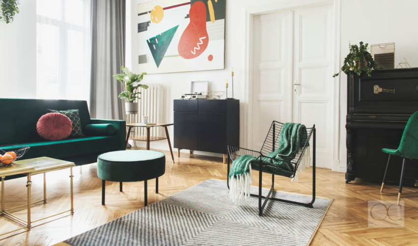 stylish artistic modern interior decorating style