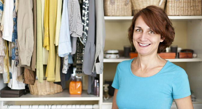 Woman becoming a professional organizer