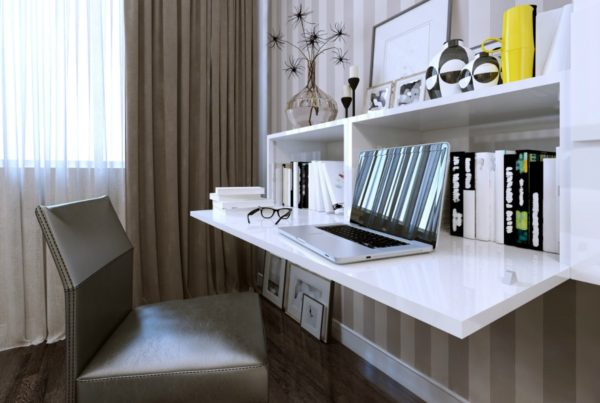 home office space created by certified professional organizer
