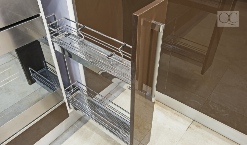 design blog sliding kitchen storage space for professional organizing clients
