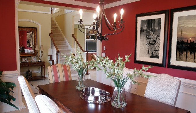 Red paint color for a dining room