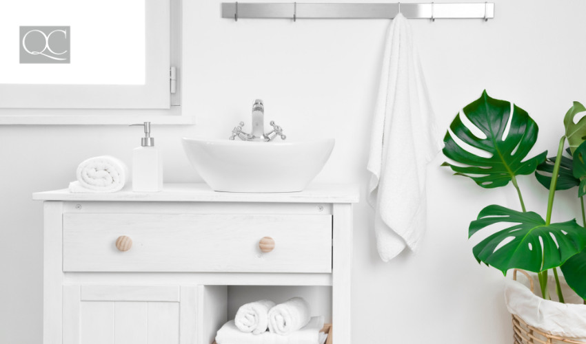 clean bathroom by a certified professional organizer
