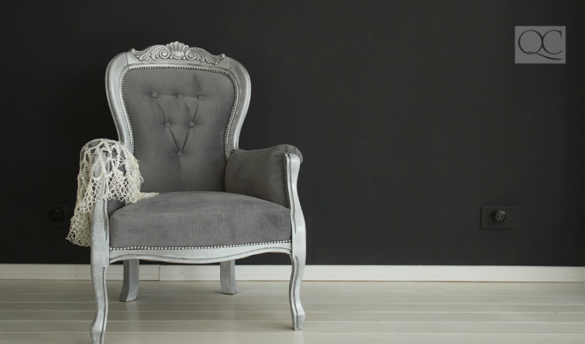 vintage chair for sustainable interior decorating and home staging design