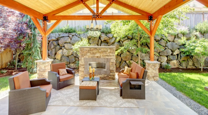 "Decorating an outdoor ""room"""