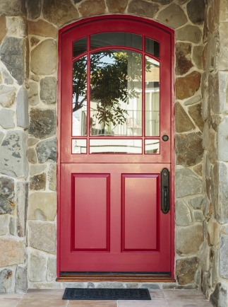 A red front door is thought to bring fame and prosperity in feng shui