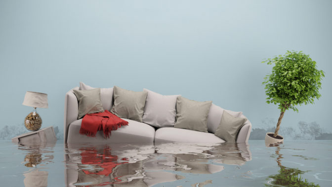 couch in a flood