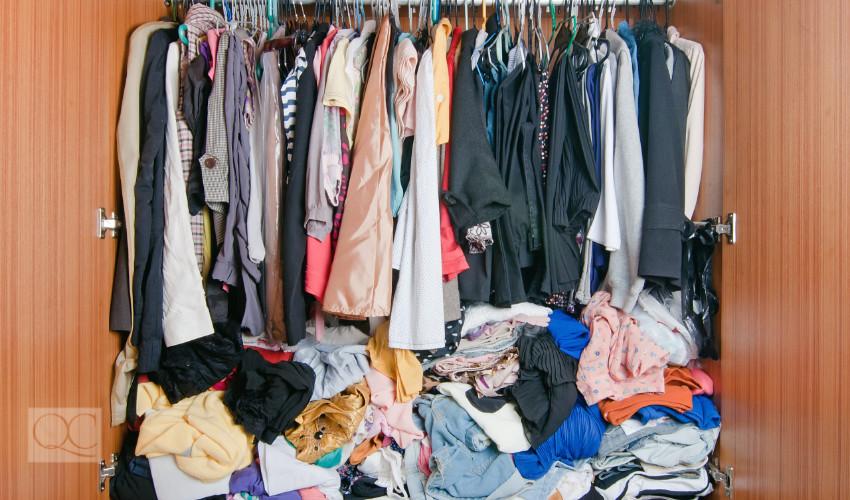 closet clutter - full closet