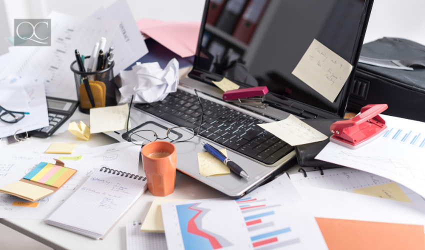 office clutter - professional organizing needed