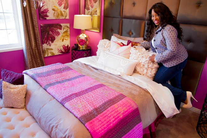 Jacqueline Forde styles a bedroom