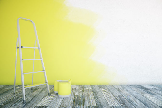 yellow ombre wall