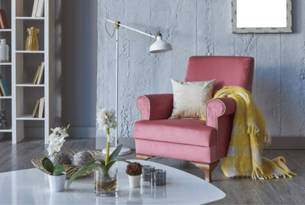 home staging interior decor in living space