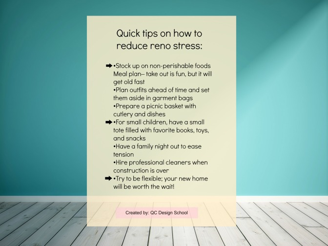 Quick tips to survive home reno stress