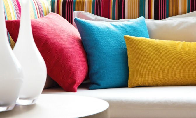 high-end pillows home staging on a budget