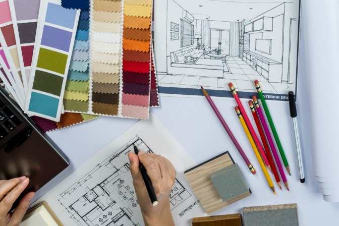 Interior Decorating Certification Drawing