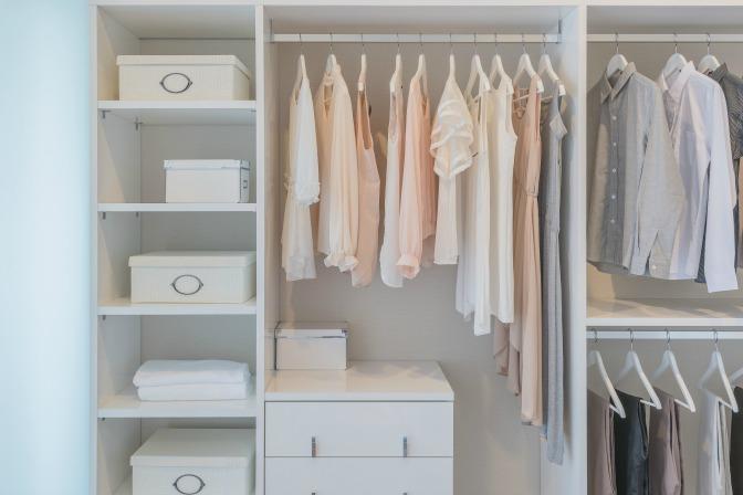 Marie Kondo Closet