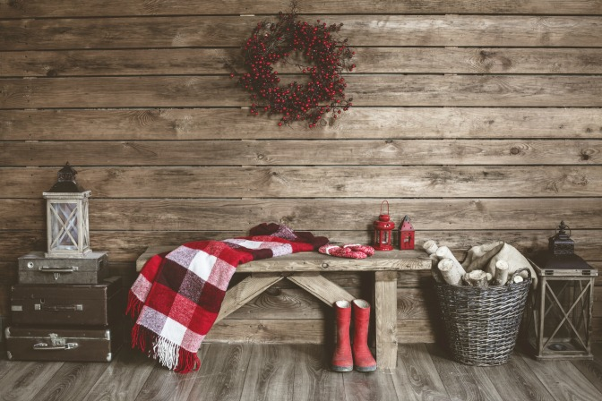 Winter's home decor rustic