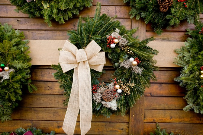 winter's home decor wreath