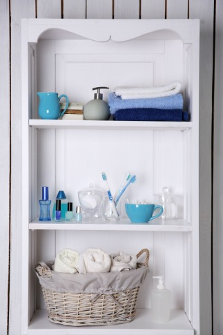 Home Storage Spaces Vertical Bathroom Shelves