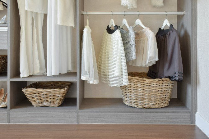 Home Storage Spaces decluttering a crammed closet