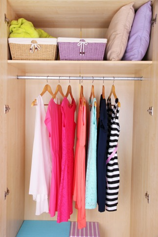 Clean out wardrobe with professional organizer