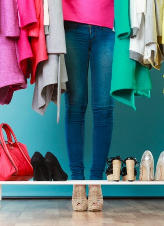 Color coordinate closet and wardrobe with help from professional organizer online course