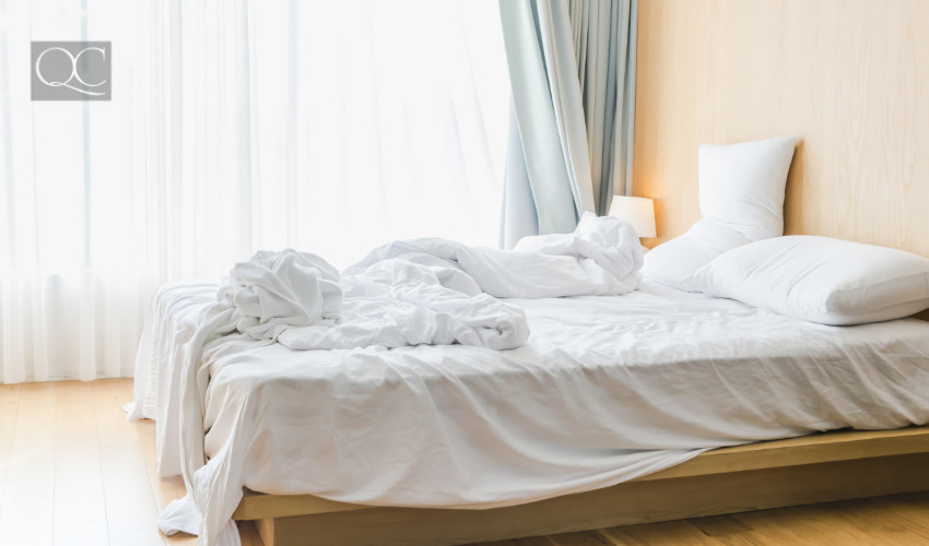 dirty linens and sheets are a home staging sin