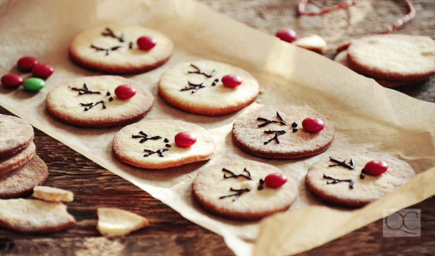 homemade holiday cookies rudolf the red nose reindeer