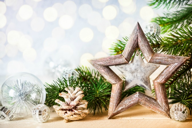 Wooden star DIY Christmas decorations for the home