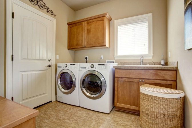 Laundry room storage ideas for professionally organizing small homes