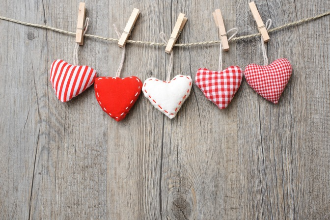 Valentine's Day decor and crafts