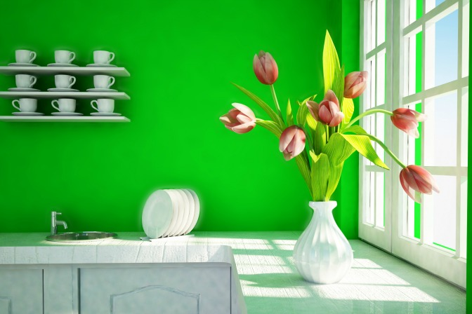 Use Pantone color of the year for kitchen interior decor