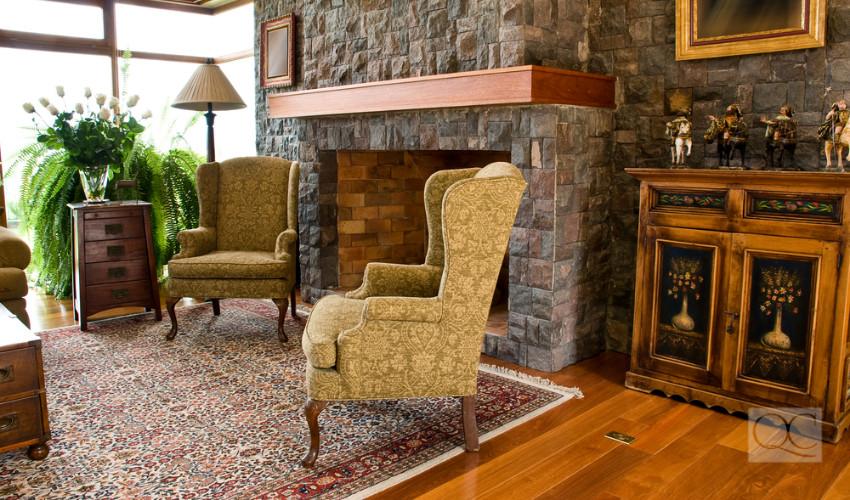 living room decor vintage