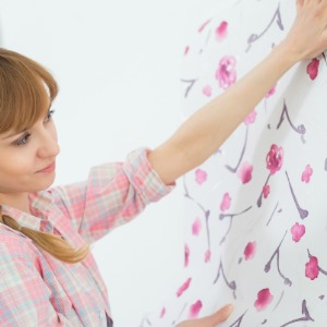 Hang a busy wallpaper print.
