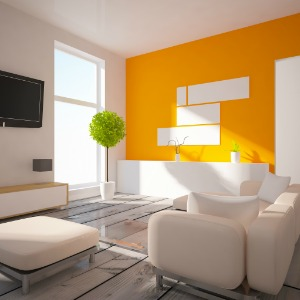 Declutter and go with a light paint color.