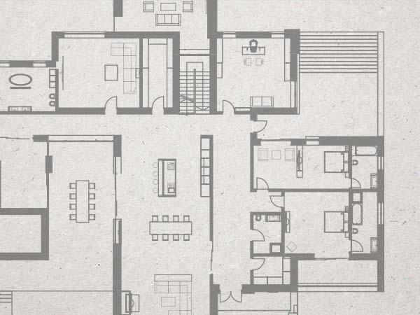 Example of designer's floorplan