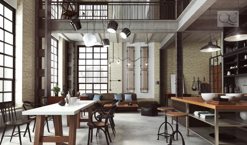 loft interior design for an interior decorating client