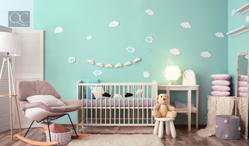 childs bedroom painted for interior decorating jobs