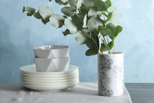 eucalyptus leaves home decor of an interior decorating client home