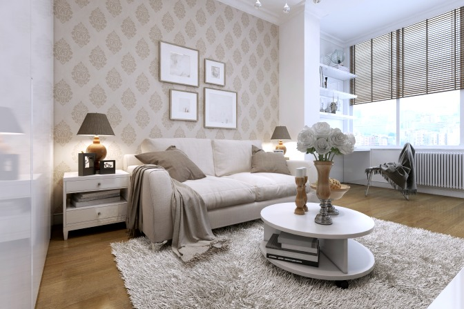 Use wallpaper for wall decor accent