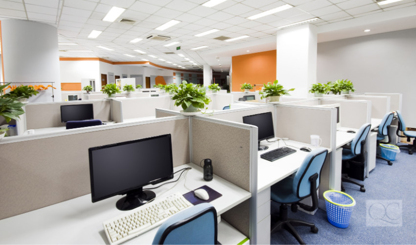 cubicle office design by interior decorating professional