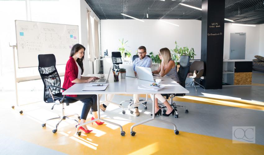open concept workspace interior design