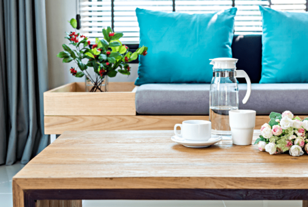 staged modern living room