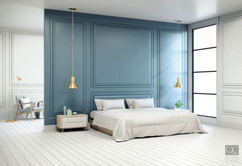 calming blue bedroom