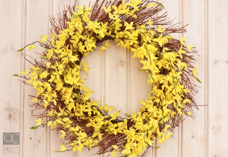 yellow spring wreath
